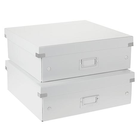 Xyron® Click N Store Large Paper Storage Box 2-pack