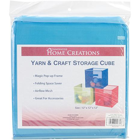 "Yarn and Craft Storage 12"" Cube - Sky Blue"