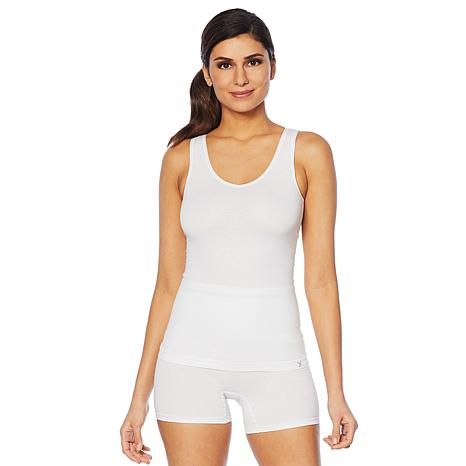 Yummie Cotton-Blend Seamless V-Neck Tank