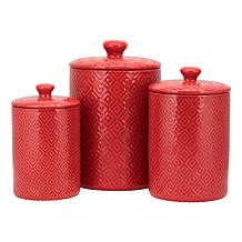 10 Strawberry Street Blossom 3-piece Canister Set