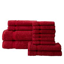12-Piece 100% Turkish Cotton Towel Set