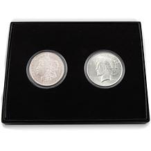 1921 Morgan and 1922 Peace Silver Dollar Coin Set