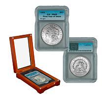 "1921 P-Mint MS65 ICG Morgan Silver Dollar ""Last Year of Issue"""