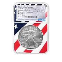 1986-2021 Set of 40 MS69 Silver Eagle Coins with Flag Core Auto-Ship®
