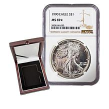 1990 MS69 Star NGC Silver Eagle Dollar Coin