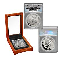 2018 MS70 ANACS Australian Wedge-Tailed Eagle $1 Silver Coin