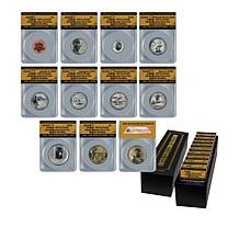 2018 RP70 S-Mint Silver Reverse Proof 10-Coin Set