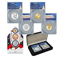 2019 FDOI LE 890 JFK Half/Native American Dollar 2-Coin Rocketship Set
