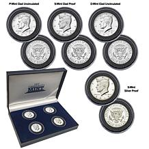2019 PDS and Silver Proof Set of 4 John F. Kennedy Half Dollars
