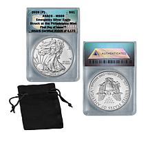 2020 MS69 P-Mint FDOI LE 4,173 Emergency Silver Eagle Dollar Coin