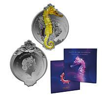 2020 RP LE 2,500 Giant Seahorse Galapagos Island $2 Silver Coin