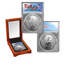 2021 MS70 ANACS FDOI LE 221 $5 Canada Maple Leaf 99.99% Silver Coin