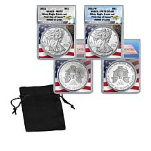 2021 MS70 & PR70 First Day of Issue Limited Edition 2021 Silver Eagles