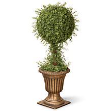 3' Artifical Topiary Mini Tea Leaf 1-Ball Tree