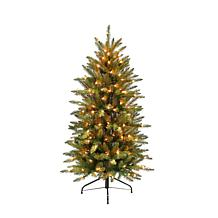 4.5' Franklin Fir Pencil Artificial Christmas Tree - 150 Clear Lights