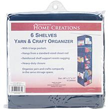 6-Shelf Yarn and Craft Organizer - Navy