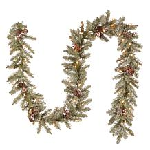 9' Dunhill Fir Garland w/Lights