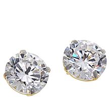 Absolute™ 14K Gold 4ctw Cubic Zirconia Round Stud Earrings