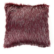 Adrienne Landau Metallic Acrylic Decorative Faux Fur Pillow