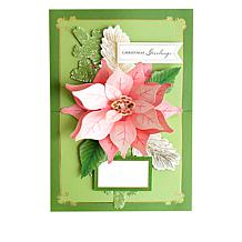 Ag Poinsettia Pop-Up Card Kit