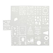 Aladine Holiday-Themed Layer Stencils - Set of 6