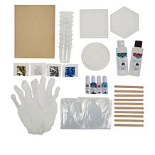 American Crafts Color Pour Resin Starter Kit with Coaster Molds