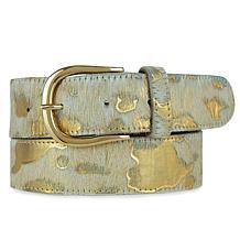 Amsterdam Heritage Luxe Dakota Cow Print Leather Belt