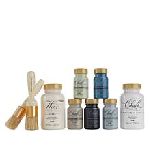 Anna Griffin® Chalk and Wax 9-piece Paint Kit with Brushes