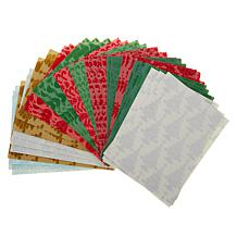Anna Griffin® Christmas Fancy Flocked Card Layers Set of 36