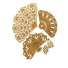 Anna Griffin® French Fan 5-piece Cut & Embossing Dies