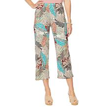"Antthony ""Electric Color"" 2-pack Solid/Print Cropped Pant"