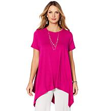 "Antthony ""Fashion is Me"" Keyhole Back Short-Sleeve Asymmetric Tunic"