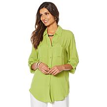 """Antthony """"Ocean Waves"""" Button-Up Shirt"""