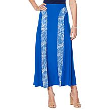 """Antthony """"Smooth Sports"""" Contrast Panel A-Line Skirt"""