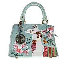 Anuschka Hand-Painted Leather Triple-Compartment Satchel