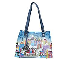Anuschka Hand-Painted Leather Twin Compartment Shopper
