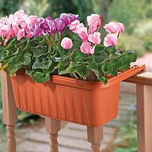 Apollo Set of 2 Adjustable Railing Planters