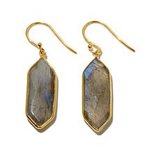 Argento Vivo Geometric Labradorite Drop Earrings