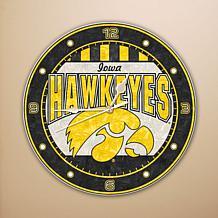 Art Glass Wall Clock - University of Iowa