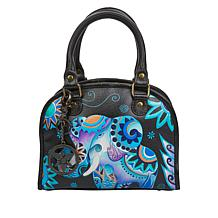 """""""As Is"""" Anuschka Hand-Painted Leather Convertible Satchel"""