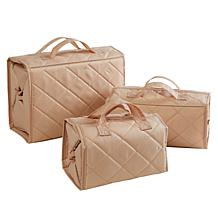 """As Is"" Better Beauty Case Quilted 3-piece Set"