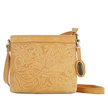 """As Is"" Born Tooled Leather Crossbody"