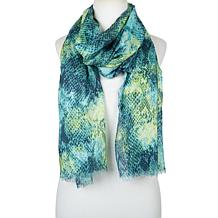 """""""As Is"""" G by Giuliana Lightweight Printed Scarf"""