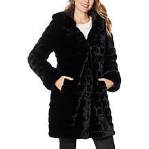 """""""As Is"""" Laurier Reversible Faux Fur Coat"""
