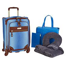"""As Is"" Samantha Brown Ombré Croco Embossed 6-piece Luggage Set"