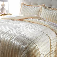 """""""As Is"""" Soft & Cozy Faux Fur Comforter Set"""