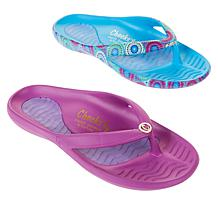 """""""As Is"""" Tony Little Cheeks® 2-pack Sport Sandal with Gel Footbed"""