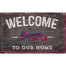 Atlanta Braves 11x19 Welcome to our Home Sign
