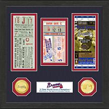 Atlanta Braves 3-Time World Series Ticket Collection
