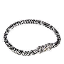 Bali Designs 0.43ctw Rhodolite Tulang Naga Bracelet